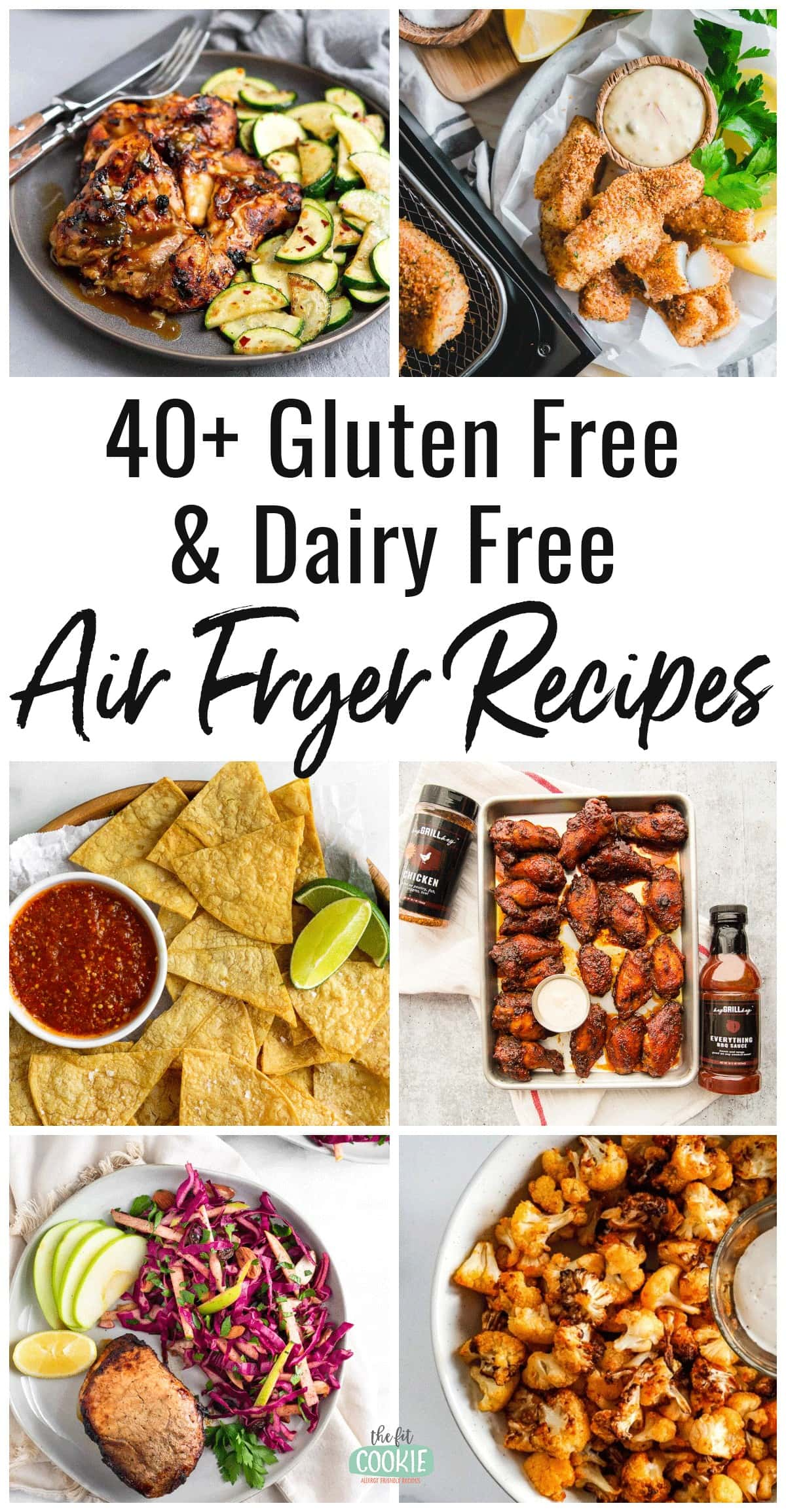 image collage of gluten free air fryer recipes with text overlay
