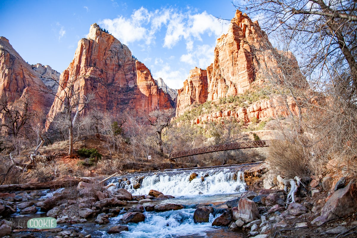 The Virgin River near Court of the Patriarchs in Zion National Park
