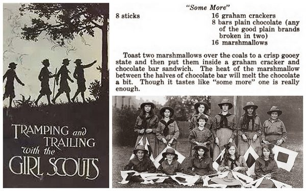 photo of original s'mores recipe from Tramping and Trailing with the Girl Scouts