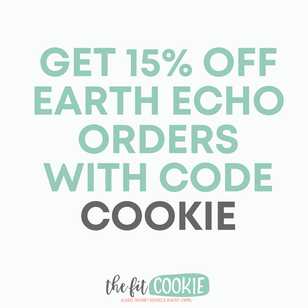 graphic with discount code for Cacao Bliss: get 15% off Earth Echo Foods orders with code COOKIE