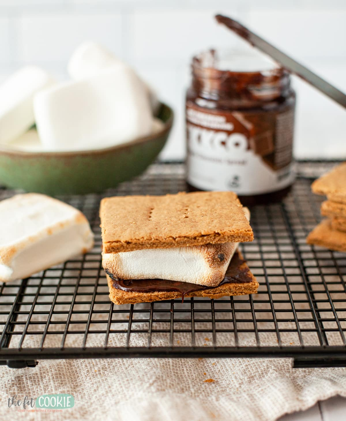 s'more made with homemade gluten free graham crackers