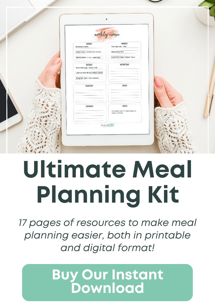 sidebar ad for ultimate meal planning kit