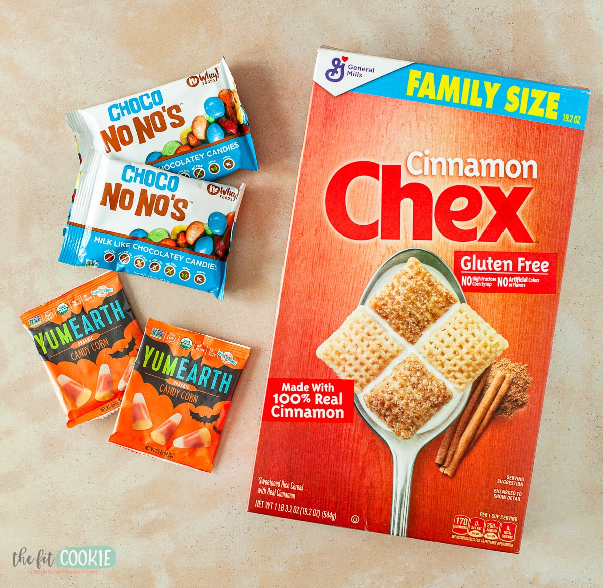 photo of ingredients to make candy corn trail mix